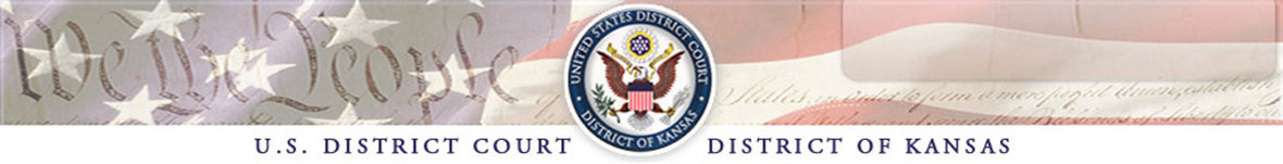 Welcome to the U.S. Court for the District of Kansas